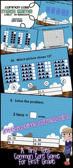 Looking for an exciting way to review 1.NBT.2 Place Value for First Grade? Here it is..and in a fun, INTERACTIVE powerpoint! With 30 practice problems, your students will get lots of review. $