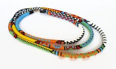 Bead Crochet, Crochet Necklace, Simple Necklace, Jewelry Gifts, Jewelry Necklaces, Jewellery, Seed Beads, Women Jewelry, Jewelry Making