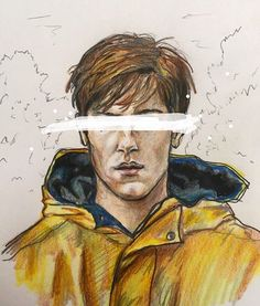 The iconic yellow rain jacket. What will happen to him in Season especially with the ending in Season He's probably my favorite character in this complex series. Netflix Series, Series Movies, Tv Series, Imagenes Dark, Dibujos Dark, Louis Hofmann, Yellow Rain Jacket, Dark Drawings, Marvel Drawings