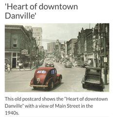 Danville Virginia, Old Postcards, Main Street, Childhood, History, Infancy, Historia, Childhood Memories