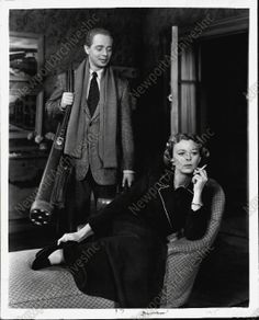 """Margaret Sullavan and James Hanley in the stage production of """"The Deep Blue Sea"""" (c. 1952)"""