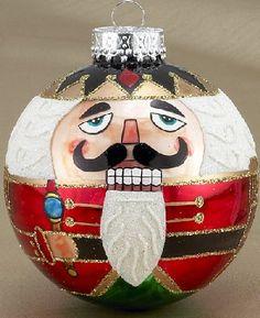 Nutcracker Design Glass Ball Christmas Ornament New Holiday Decoration | eBay