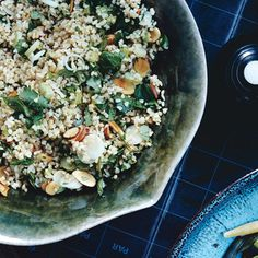 Find the recipe for Bulgur with Herbs and other almond recipes at Epicurious.com