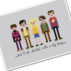 Big Bang Theory Pixel Art