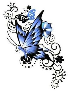 Butterfly tattoos for women, butterfly tattoo designs, butterfly design, butterfly foot tattoo, Blue Butterfly Tattoo, Butterfly Tattoos For Women, Butterfly Tattoo Designs, Butterfly Design, Big Butterfly, Bild Tattoos, Leg Tattoos, Flower Tattoos, Body Art Tattoos