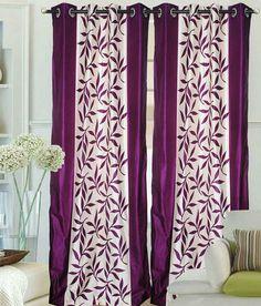 Sai Arpan Set of 2 Door Eyelet Curtains Contemporary Purple Curtains Living, Door Curtains, Purple Home, Curtain Lights, Buy 1 Get 1, Best Budget, House Design, Doors, Contemporary