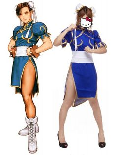 Street Fighter Chun Li Adult Fighting Game Cosplay Outfits Costumes