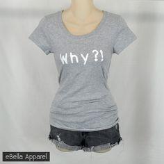 Why is Monday so far... - Women's Basic Heather Grey Short Sleeve, Graphic Print Tee - eBella Apparel, Inc. - 1