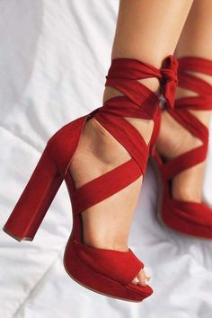 30 Sassy Red Heels Designs To Make A Fashion Statement Red heels a., 30 Sassy Red Heels Designs To Make A Fashion Statement Red heels are capable of spicing up any outfit, and that is why they never lose t. Strap Heels, Pumps Heels, Stiletto Heels, Heels With Straps, Red Pumps, Ankle Straps, Mode Statements, Fashion Statements, Outfits Damen