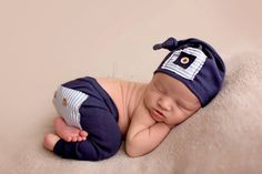 Upcycled Newborn Pants Set Navy Blue and by ShesDaintyHesDapper, $36.50