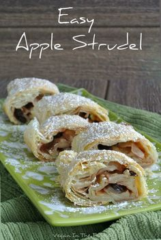Easy Apple Strudel uses a pre-made puff pastry and you tweak it with a few ingredients. You will think it came from one of the finest bakeries. Perfection! via @VeganFreezer