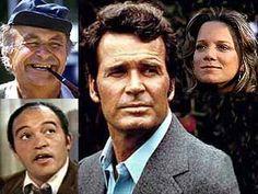 The Rockford Files - (1974-1980). Starring: James Garner, Noah Beery, Jr., Joe Santos, Gretchen Corbett, Stuart Margolin.