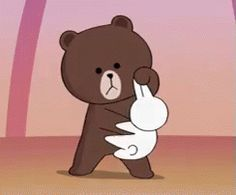 Brown Punch GIF - Brown Cony LINE - Discover & Share GIFs Gifs, Line Animation, Cony Brown, Profile Wallpaper, Emoticons, Cute Emoji, Character Design Animation, Line Friends, Cute Memes
