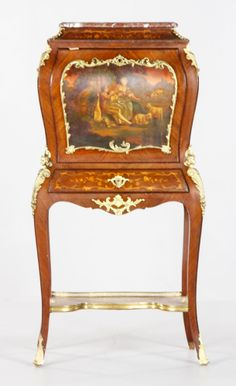 Furniture Antiques Humor Side Wings Chair Chair Seating Furniture Antique In The Biedermeier Style
