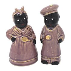 Mamie and Chef Salt & Pepper Shaker Set (Purple)