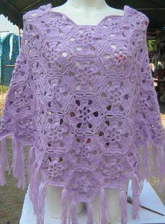 Crochet poncho/shawl on Pinterest Shawl, Crochet Shawl and Ponchos