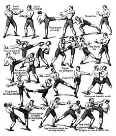 Artes marciales Martial Arts Defensa personal Self defense Savate (Old School)- I was taught some of these techniques while studying Kajukenbo Kick Boxing, Boxing Workout, Gym Workouts, Judo, Jiu Jitsu, Karate, Martial Arts Techniques, Self Defense Techniques, Martial Arts Workout