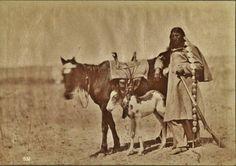 Oglala man near Fort Laramie in Wyoming - 1868