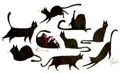 ¡GATITOS! Meg Park - Sketch Blog. Sooo cuuute! I love the cats! <3