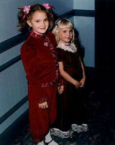 Heather O'Rourke and Drew Barrymore - ET & Poltergeist girls.