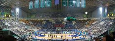 The Olympic Indoor Hall hosts numerous #Euroleague games during winter, since the top-16 phase of the tournament is in full action! #Athens #Basketball #OlympicComplex
