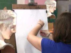 Προετοιμασία υποψηφίων Καλών Τεχνών, Ζωγραφική με Κάρβουνο - YouTube