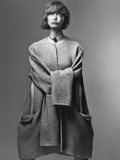 """Identity Politics"" Vogue,July 2013 Karlie Kloss by Craig McDean styling by Grace Coddington; Céline cape"