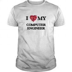 I love my Computer Engineer #Tshirt #style. CHECK PRICE => https://www.sunfrog.com/Jobs/I-love-my-Computer-Engineer-White-Guys.html?60505