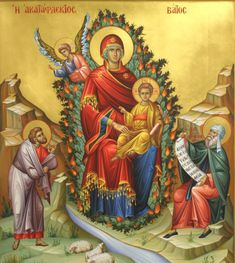 An Orthodox Christian Ministry of John Sanidopoulos Byzantine Icons, Byzantine Art, Religious Icons, Religious Art, The Transfiguration, Religious Paintings, Church Architecture, Orthodox Icons, Blessed Mother