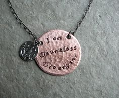 Divergent Faction | Hand Stamped Divergent Faction Necklaces - I am Divergent, Dauntless