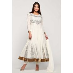 Dieudonné en ligne collection, costume asiatique prom Anarkali churidar coton, Off zari blanc brodé usure panjabi dans la boutique. Andaaz mode apporte la dernière collection de vêtements ethniques de créateurs en FR  http://www.andaazfashion.fr/salwar-kameez/anarkali-suits/off-white-cotton-anarkali-churidar-suit-with-dupatta-1781.html