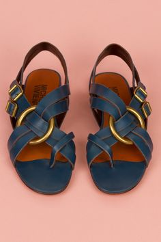 MICHEL VIVIEN SPARTACUS MULTI STRAP FLAT - BLUE - 1092 - WOMEN - FOOTWEAR - OPENING CEREMONY