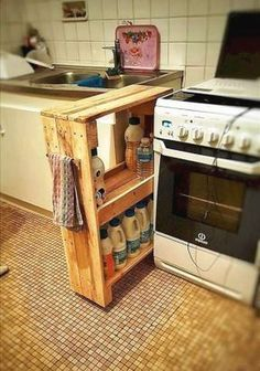 Stunning Diy Kitchen Storage Solutions For Small Space And Space Saving Ideas No 34 (Stunning Diy Kitchen Storage Solutions For Small Space And Space Saving Ideas No design ideas and photos Kitchen Storage Solutions, Diy Kitchen Storage, Kitchen Pantry, Kitchen Stuff, Space Kitchen, Kitchen Rack, Island Kitchen, Kitchen Small, Kitchen Gadgets