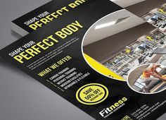 Fitness Flyer by Graphicidenic on @creativemarket