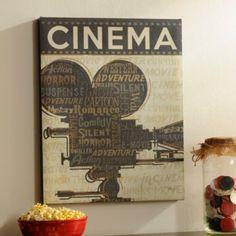 Cinema I Canvas Art Print