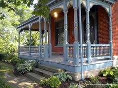 The Blue U0026 Gold Paint Highlights The Gingerbread Trim On This Front #porch  We Discovered