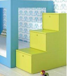 S cale partido a las habitaciones peque as literas modernas y funcionales para espacios - Escaleras para camas nido ...