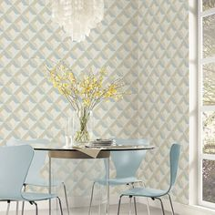 Dimensional Diamond Inlay Wallpaper. Norwall Creative Kitchens wallpaper book by Patton. http://lelandswallpape.com
