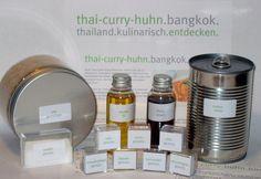 "Geschenk Rezept-Kit ""Thai-Curry-Huhn Bangkok"" von Cyrano54 auf DaWanda.com Thai Chicken Curry, Thai Curry, Curry Shrimp, Bangkok, Whiskey Bottle, Kit, Cilantro, Pisces, Gifts"