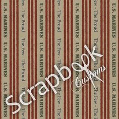 Marine Scrapbook Paper | Home / Physical Scrapbooking / Military / Marines-Few Proud Paper