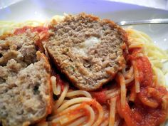 Mozzarella Stuffed Meatballs