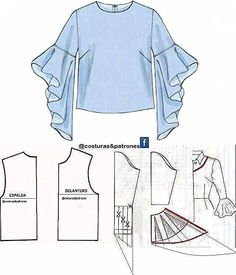 How to sew an umbrella dress Easy - # sewing # umbrella dress Fashion Sewing, Diy Fashion, Ideias Fashion, Dress Sewing Patterns, Clothing Patterns, Sewing Sleeves, Sewing Blouses, Sleeves Designs For Dresses, Pants Pattern