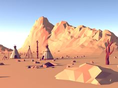 Low Poly Landscape [WiP] II