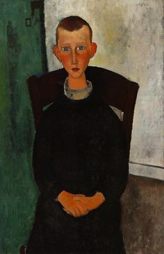 Amedeo Modigliani - The Son Of The Concierge, 1918 //→ eccentricKollector