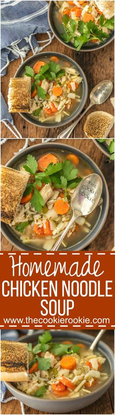There's nothing better than HOMEMADE CHICKEN NOODLE SOUP! The ultimate comfort food, made right in your kitchen. So much easier than I thought!