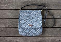 Grey felted messenger bag crossbody bag schoulder bag pure wool checkered purse genuine leather handle satchel bag embroidered bag women bag by AureliaFeltStudio on Etsy