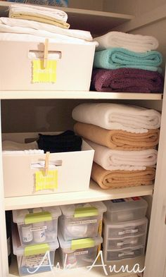 project organize your entire life quick tip baskets closet organization the beauty and towels - Bathroom Closet Organization Ideas