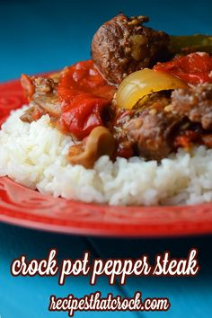 Crock Pot Pepper Steak - Such an easy recipe to throw together!