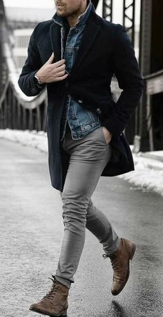 45 Stylish and Casual Winter Outfit Ideas for Men Stylish and Casual Winter Outfit Ideas for MenBy Posted on November 201 Stylish Men, Men Casual, Smart Casual, Man Style Casual, Rock Style Men, Casual Menswear, Casual Shirt, Fashion Mode, Fashion Trends