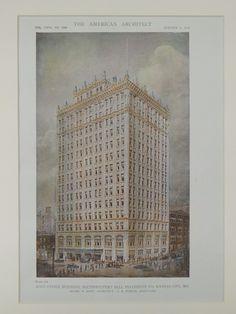 Main Office, Southwestern Bell Telephone, Kansas City, MO, 1919, Original Plan. Henry F. Hoit.